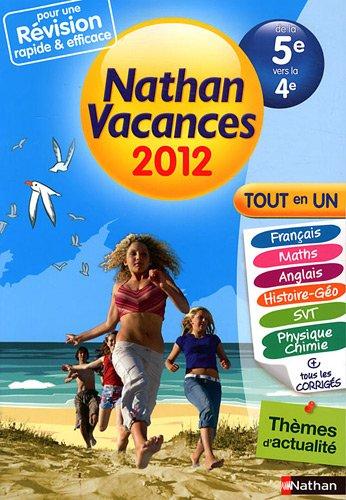 Nathan vacances Tout en un de la 5e vers la 4e