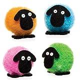 """Baker Ross Mini-Pompon-Bastelset """"Flauschiges Schaf"""" für Kinder Zum Gestalten und Dekorieren - Kreatives Osterbastelset für Kinder (10 Stück)"""