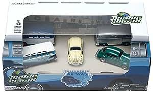 Greenlight 1:64 Motor World 70's Car Wash Diorama - VW ensemble de 5 voitures