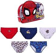ARTESANÍA CERDÁ Braguitas bragas para niños, diseño de Spiderman, juego de 5 piezas, algodón, 2 – 6 años