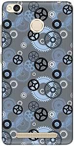 The Racoon Lean printed designer hard back mobile phone case cover for Xiaomi Redmi 3S Prime / Xiaomi Redmi 3 Pro. (Gears Blue)