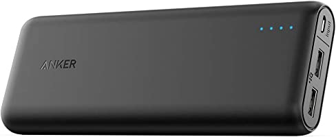 Anker PowerCore 15600 mAh Super High Capacity Battery Pack Power Bank with Most Powerful 4.8 A Output and PowerIQ Technology for Smartphones - Black