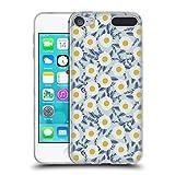 Head Case Designs Offizielle Charlotte Winter Gänseblümchen Garten Blau Blumig Soft Gel Hülle für Apple iPod Touch 6G 6th Gen