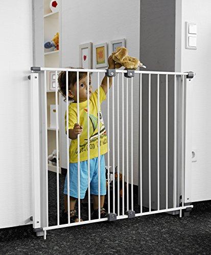 Geuther - Türschutzgitter Purelock aus Metall für Kinder, Hunde und Katzen, Befestigung mit...