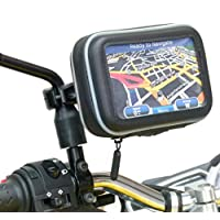 BuyBits Waterproof Motorcycle Scooter Moped Mirror Mount for Garmin Nuvi 42LM