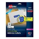 Return Address Labels for Color Laser & Copier, 3/4 x 2-1/4, Matte White, 750/PK, Sold as 1 Package
