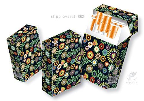 Abbildung: 3 Stück indo slipp overall Zigarettenschachtelüberzieher Motiv: Retro Blumenmuster