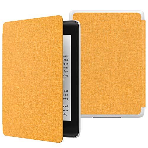 MoKo Hülle für Kindle Paperwhite E-Reader, Die dünnste & leichteste Schutzhülle Smart Cover mit Auto Sleep/Wake für Amazon Kindle Paperwhite (10. Generation - 2018) - Denim Gelb