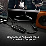 Ugreen 40248 - Adaptador HDMI a VGA (1080p, Audio 3.5 mm, Micro USB para Alimentación), Color Negro