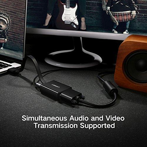 Ugreen 40248   Adaptador HDMI a VGA (1080p  Audio 3.5 mm  Micro USB para Alimentación)  Color Negro
