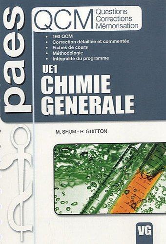 Chimie générale UE1 : questions, corrections, mémorisation