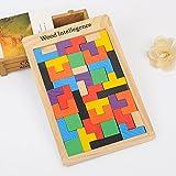 QXMEI Enfants Jouets Enfants Blocs Tetris Puzzle Enfants Blocs en Bois Jouet Taille du Produit: 11.2Pouces * 6.9Pouces