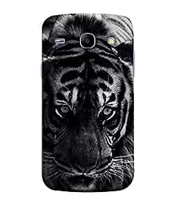 PrintVisa Designer Back Case Cover for Samsung Galaxy Core I8260 :: Samsung Galaxy Core Duos I8262 (The Tiger In Black And White Design)