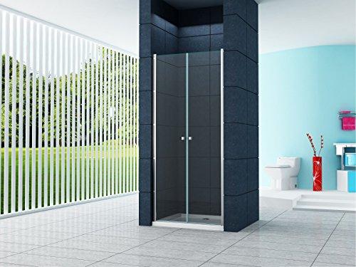 6 mm Nischentür Sany 80 x 195 cm / Nische Duschtür Duschkabine Dusche Duschwand