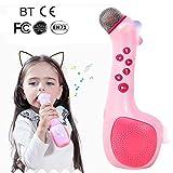 Karaoke Machine Kids, microfono wireless canto macchina con voce fasciatoio e registrazione, migliore regalo per ragazzi e ragazze compleanno