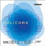 D\'Addario Bowed Corde seule (Sol) pour contrebasse orchestre D\'Addario Helicore, manche 3/4, tension Heavy