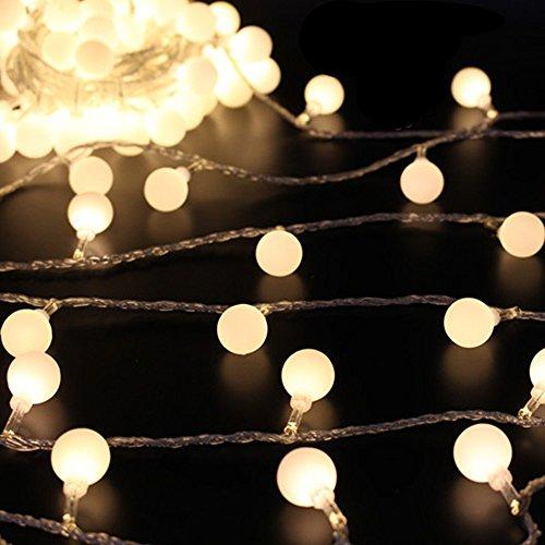 XGUO Catene Luminose LED 10M 70 LED Bombillas luci decorative da Interni e Esterni, per Festa, Giardino, Natale, Halloween, Matrimonio - Bianco caldo