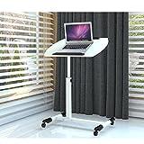 Computertische Laptop Schreibtisch Bett Home Lift Tisch Klappbarer mobiler Schreibtisch Student Nachttisch (Color : Weiß, Size : 61*40cm)
