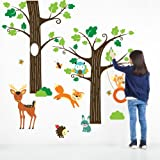 Harry & Bear Large Woodland Tree and Animal Wall Stickers