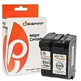 Bubprint 2 Druckerpatronen kompatibel für HP 15 & HP 17 für Deskjet 816C 817C 825C 825CVR 840C 840 Series 841C 842C 843C 845C 845CVR Fax 1010