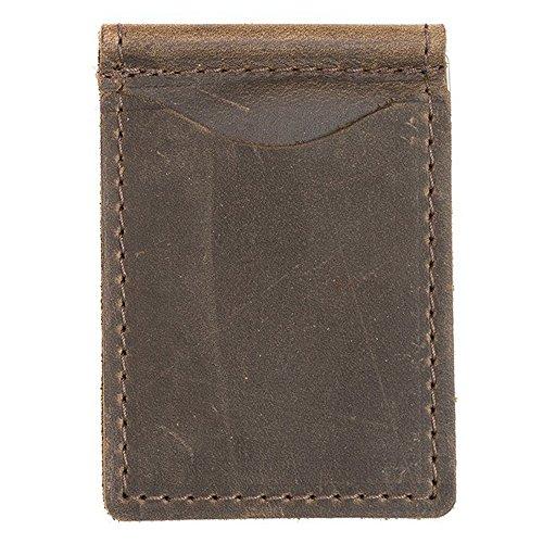 Rustico Leather Money Clip Dark Brown -