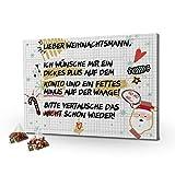 printplanet - Tee-Adventskalender XL Lieber Weihnachtsmann mit 24 hochwertigen Teefüllungen von Floragold® - Sprüche Adventskalender als Geschenk