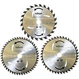 Rolson 24852 235 x 30 mm-TCT Lame de calibre 24/40/48 dents (3 Pièces)