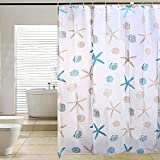 #6: Shower Curtain - Stylish Living Elegant PEVA Water-Resistant Mildew Resistant Bathroom Shower Curtain Liner with Hooks - Great for Home, Hotel, Travel, Kid's Bathroom - Bathroom Accessories by KARP
