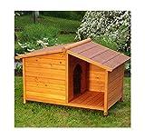 eCommerce Excellence - Caseta para perros de madera y con techo. Ideal para proteger a tus perros o gatos de la lluvia y el sol