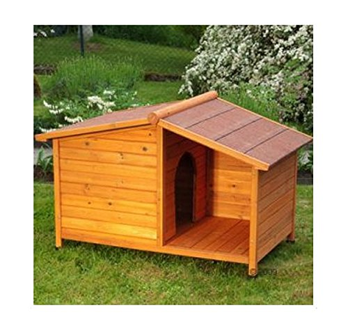 Ecommerce excellence, cuccia per cani con tetto in legno, ideale per proteggerli dalla pioggia o offrire ombra in estate,perfetta per cani o gatti