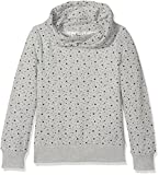 TOM TAILOR Kids Mädchen Kapuzenpullover Hoody with Allover Print, Grau (Medium Grey Melange 2482), 152