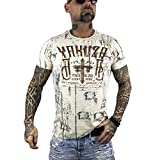Yakuza Original Herren Inked In Dark T-Shirt- Gr. 6XL, Bone White