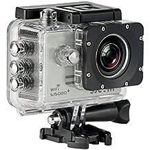 SJCam SJ5000 Plus (versión española) - Videocámara deportiva con chip Ambarella y sensor Panasonic 16MP (WiFi integrado, LCD 1.55'', 2k 2560x1440/30fps, sumergible 30 m) color plata