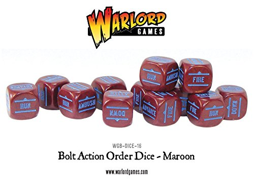 Bolt Action Order Dice - Maroon (Maroon Spiel)