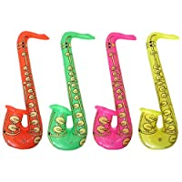 Inflatable Saxophone Musical Instrument Group Band Fancy Dress Blow Up