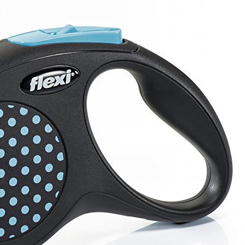 flexi . Roll-Leine Design, Gurt 5 m für Hunde bis Maximal 15 kg , S, blau - 2