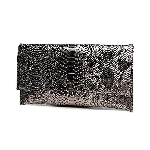 Handtasche, Damen Handtasche, Mode Bankett Damen Abendtasche, Schulter schräge Ledertasche ( Farbe : Gold ) Braun