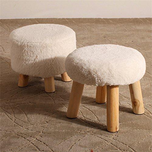 Kreative Tuch Freizeit Massivholz Hocker Massivholzwechsel Schuh Hocker Fußschemel Test Schuh Hocker Runde Gepolsterte Fußschemel 4 Holz Bein Pouffes Hocker Stoff Abdeckung YYdy-Small wooden stool ( farbe : # 11 )