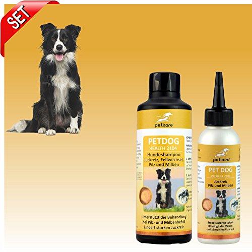 Peticare Set Milben und Juckreiz - Shampoo für Den Hund
