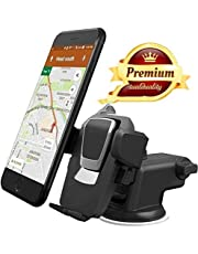 Venganza Car Mobile Phone Holder - Telescopic One Touch Long Neck Arm Adjustable Quick Stand Technology 360 Degree Rotation with Ultimate Reusable Suction Cup Mount for Car Dashboard/Windshield