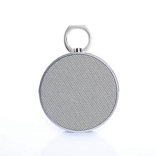 ZENWEN Drahtlose Bluetooth-Lautsprecher schweren Bass Stahl Gun Metal tragbarer Computer im freien Audio Home Desktop tragbare Autoradio SPE Aker mit AUX/USB/TF-Karten-Slot (Silber) Stahl-audio