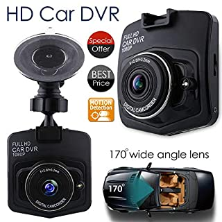 Mini Autokamera DVR GT300 Full HD 1080P Digital Video Nachtsicht, G-Sensor, Nahtlose Loop-Aufnahme, Bewegungserkennung und Park-Monitor, Dash-Cam, Schwarz