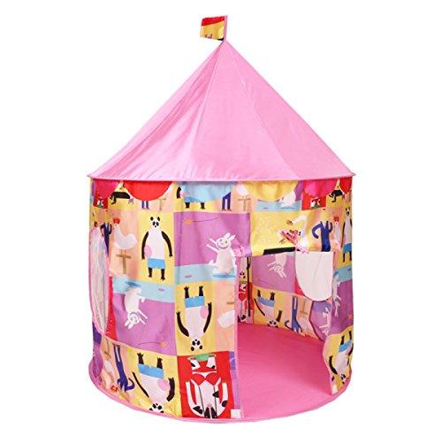 Tente Pour Enfants Intérieure Princesse Fille Extérieure Garçon Jeu Maison Maison 3-year-old Home Simulation Soie Jouet Maison,Pink(B)