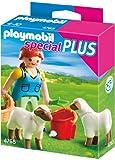 PLAYMOBIL 4765 - Bäuerin bei Schäfchen-Fütterung