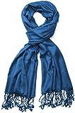 styleBREAKER Stola Schal/Tuch in vielen verschiedenen Farben 01012035 (70 x 180 cm, Petrol-Blau)