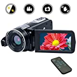 Videokamera Camcorder Full HD 1080p Digitalkamera 24.0MP 18facher Digitalzoom 3
