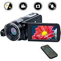 "Camcorder Video Camera Full HD 1080p Digital Camera Vlogging Camera24.0MP 18x Digital Zoom Camera 3.0"" LCD 270° Rotation Screen with Remote Control"