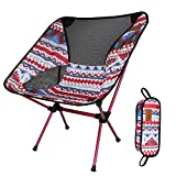 RTGFS Folding ChairOutdoor Portable Folding Chair Seat Folding Stool for Fishing Camping Picnic Garden BBQ Beach Holiday Backpacking Indian Red