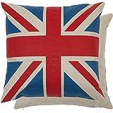 Clayre y fed KT021 015 funda de almohada Funda de cojín almohada, de la bandera de Inglaterra aprox 45 x 45 cm