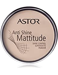 Astor Anti Shine Mattitude Powder, Farbe 2 Porcelain, 1er Pack (1 x 14 g)